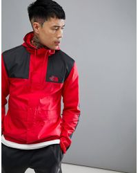 The North Face - 1985 Mountain Jacket Hooded 2 Tone In Red/black - Lyst