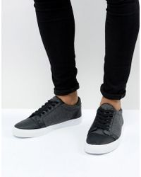 ASOS - Trainers In Black Warm Handle - Lyst