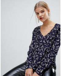 Mango - All Over Floral Frint Blouse - Lyst