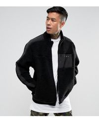 PUMA - Borg Jacket In Black Exclusive To Asos - Lyst