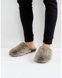 Ted Baker - Nnyah Furry Slip On Slippers - Lyst