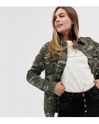 New Look - Utility Shacket In Camo - Lyst