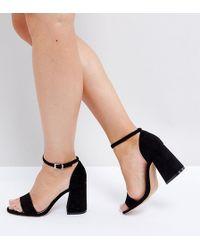 74ed30c7340 Lyst - ASOS Asos Heron Wide Fit Heeled Sandals in Metallic