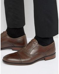 Red Tape - Lace Up Brogue Smart Shoes In Brown - Lyst