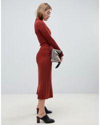 ASOS - Two-piece Midi Skirt In Fine Rib Knit - Lyst