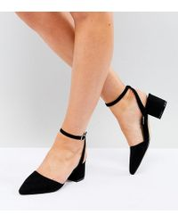 Truffle Collection - Wide Fit Tie Up Mid Heel Shoe - Lyst