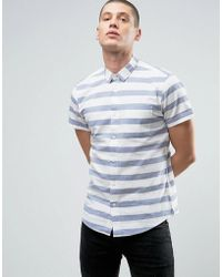 Threadbare | Thin Stripe Shirt | Lyst