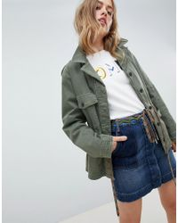 Tommy Hilfiger - Utility Jacket With Hiker Lace Waist Detail - Lyst