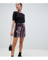 Noisy May Petite - Sequin Skirt - Lyst