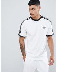 1e2105b7 adidas Originals - Adicolor California T-shirt In White Cw1203 - Lyst