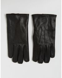 French Connection - Classic Leather Glove In Black - Lyst