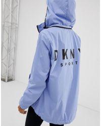 DKNY - Convertible Hood Jacket With Oversized Logo - Lyst