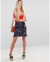 ASOS | Mini Skirt In Floral Print | Lyst