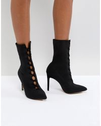 ALDO - Miassa Pull On Sock Boot With Lace Detail - Lyst
