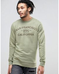 Esprit - Crew Neck Sweatshirt With San Fran Print - Lyst