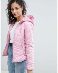 Bershka - Hooded Puffer Jacket - Lyst