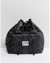 Mango - Quilted Duffle Backpack - Lyst