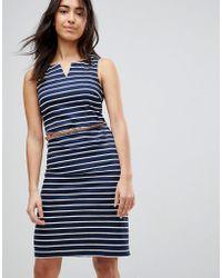 Vero Moda - Striped Dress With Belt - Lyst