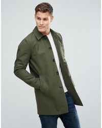 ASOS - Asos Shower Resistant Single Breasted Trench Coat In Khaki - Lyst