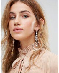 LoveRocks London - Statement Circle Drop Earrings - Lyst