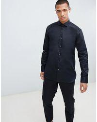 Ted Baker Черная Эластичная Рубашка - Черный - Синий