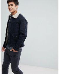 Esprit - Denim Jacket With Borg Lining - Lyst