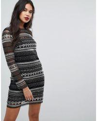 Forever New - Sequin Striped Midi Dress - Lyst