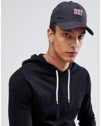 9c1810aded6 Stussy Logo Snapback Cap In Black in Black for Men - Lyst
