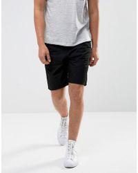 ASOS - Denim Shorts In Slim Black With Utility Detailing - Lyst
