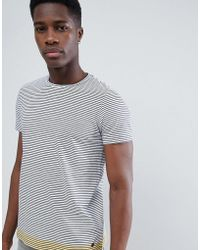 Esprit - T-shirt With Stripe Contrast Hem - Lyst