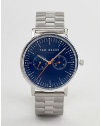 Ted Baker - Te50274007 Brit Chronograph Bracelet Watch In Silver 40mm - Lyst