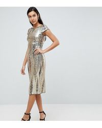 TFNC London - Allover Sequin Midi Dress - Lyst