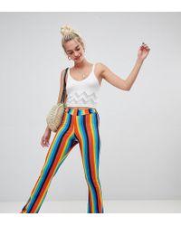 Daisy Street - Flares In Rainbow Stripe - Lyst