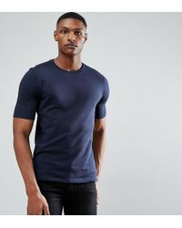SELECTED - Tall T-shirt In Organic Cotton Jersey - Lyst