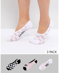 Vans   Invisible Printed Canoodle 3 Pack Socks   Lyst