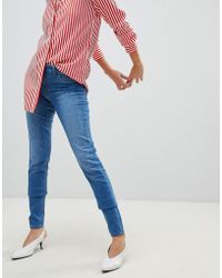 Pieces - Shape Up Mid Rise Jean - Lyst