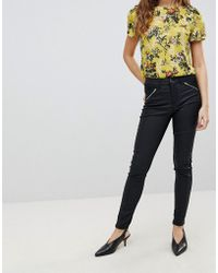 Oasis - Skinny Coated Jeans - Lyst
