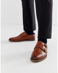 ASOS - Zapatos Monk de cuero tostado con suela natural de - Lyst