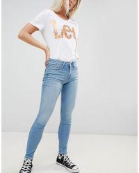 Lee Jeans - Lee Scarlett Washed Denim Skinny Jeans - Lyst