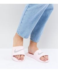 Nike - Kawa Sliders In Pink - Lyst
