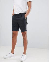 ASOS DESIGN - Asos Slim Smart Short In Ditsy Print With Piping - Lyst