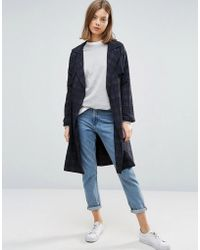 Native Youth - All Over Check Lightweight Trench - Lyst