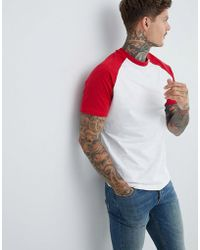 Pull&Bear - Join Life Raglan In Red - Lyst