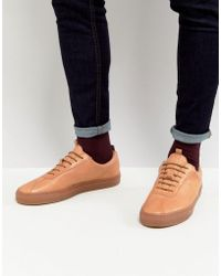 Grenson - Leather Trainers With Gum Sole - Lyst
