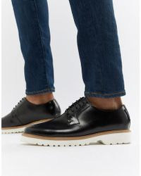 Ben Sherman - High Shine Lace Up Shoes In Black Leather - Lyst