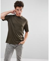 SELECTED - + Oversized T-shirt With Drop Shoulder Sleeve - Lyst