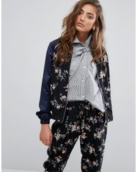 Miss Selfridge - Floral Bomber - Lyst