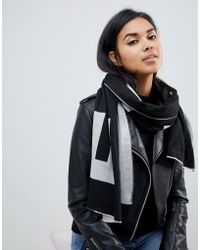 French Connection - Oversized Logo Scarf - Lyst