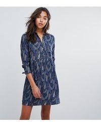 Esprit - Button Up Feather Dress - Lyst