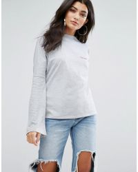 Daisy Street - High Neck Lightweight Sweatshirt With Partners In Crime Embroidery - Lyst